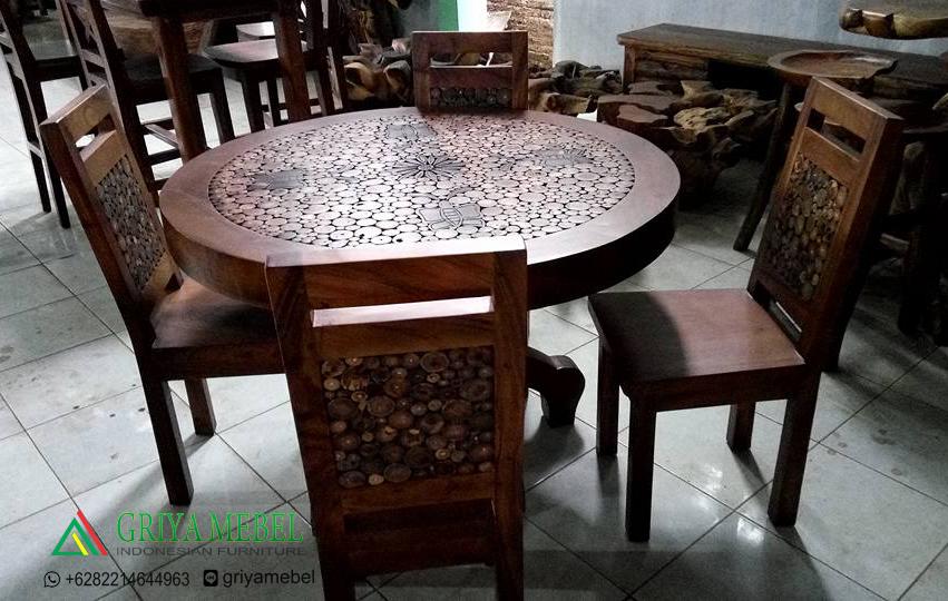Set Kursi Makan Sofa Nabila