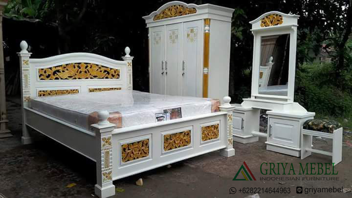 Kamar Set Jati, Kmar Set Murah, Kamar Set Ukiran, Jual Kamar Set, Furniture jati, furniture murah, furniture jepara, furniture indonesia, Kamarset Duco Putih Murah, set kamar modern, set kamar duco, furniture duco, kamar set duco putih, model kamar set duco putih, harga set kamar duco putih