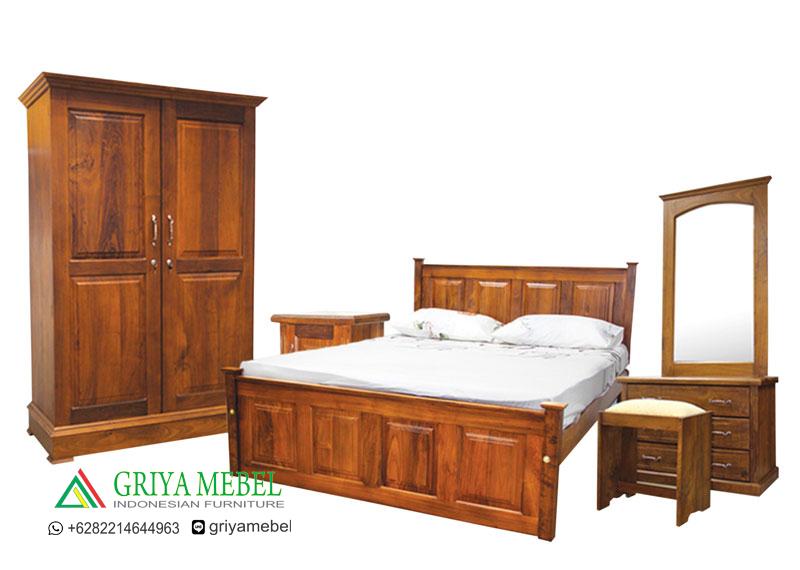 Kamar Set Minimalis Jati Thomas,Kamar Set Minimalis,Kamar Set Jati, Furniture Jati, Mebel Jati, Furniture Murah